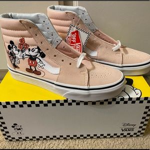 VANS Disney Sk8 Mickey $ Minnie High Tops Size 7